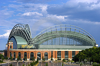 Miller Park, Milwaukee, Roof Open Editorial Photography