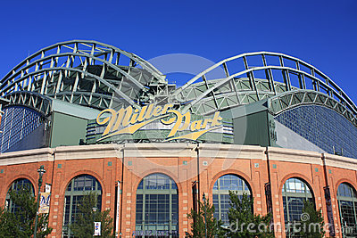 Miller Park Stadium Entrance Editorial Photography