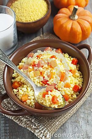 Millet porridge with pumpkin