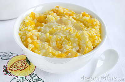 Millet Porridge With Pumpkin Stock Photo - Image: 46630012