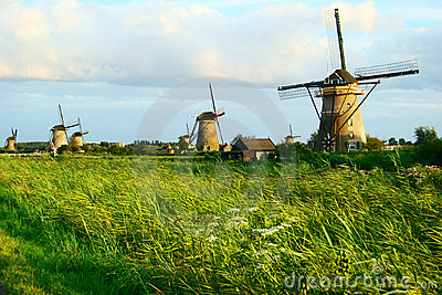 MILLS IN A DUTCH LANDSCAPE