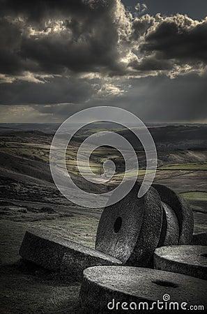 Millstones on Stanage Edge