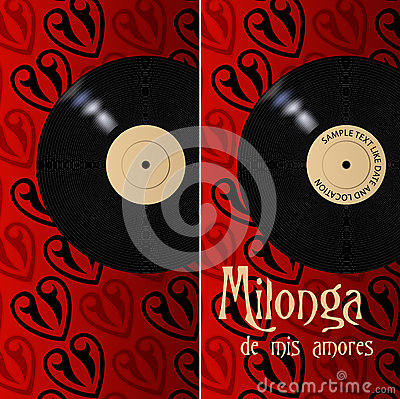 Milonga poster and flyer