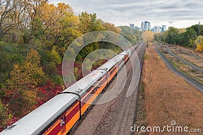 Milwaukee Road #261 - Cedar Trail Cars Editorial Stock Photo