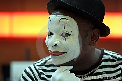 Mime performer Editorial Image