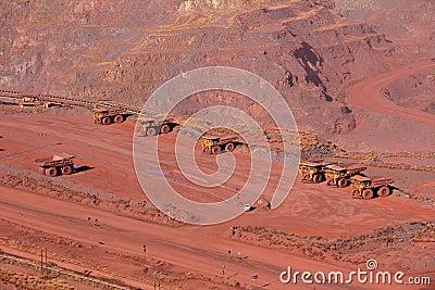 Mina de mineral de hierro