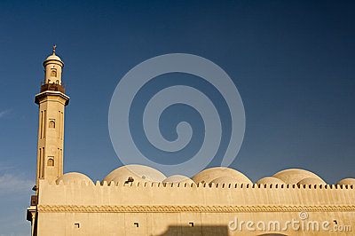 Minaret and domes of a mosque