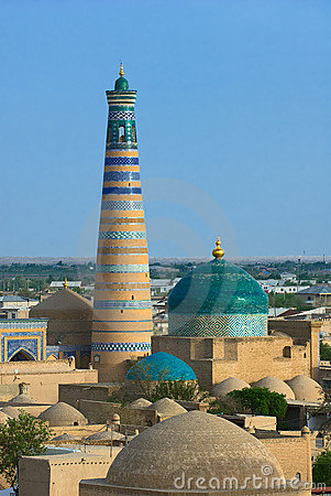 Free Minaret In Ancient City Of Khiva Royalty Free Stock Photography - 5998727