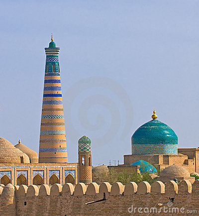 Free Minaret In Ancient City Of Khiva Stock Image - 6037321