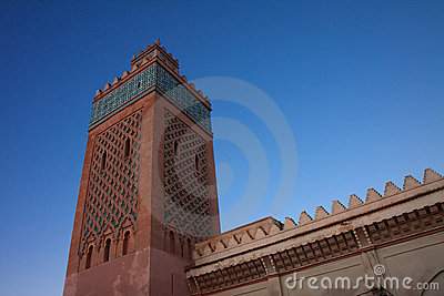 Minaret of the kasbah in Marrakesh, Morocco