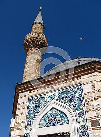 Minaret of Konak Camii mosque in Izmir