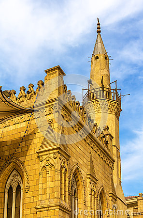 Free Minaret Of The Al-Hussein Mosque In Cairo Stock Photo - 50754150