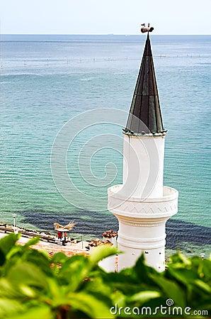 Minaret and sea