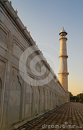 Minaret at Taj Mahal