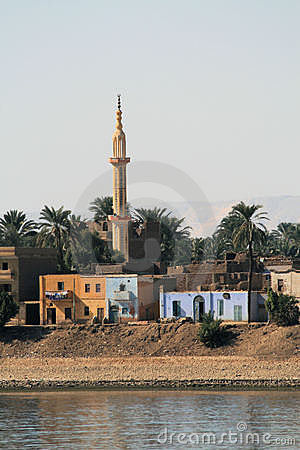 Minaret on the West Bank of the River Nile