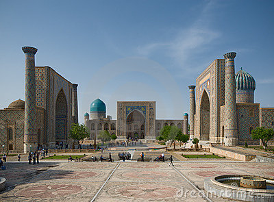 Minarets of Registan, Samarkand
