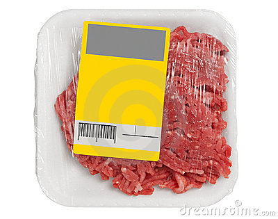 Mince meat in packaging