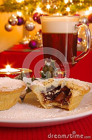 Free Mince Pie And Irish Coffee Stock Image - 33581961