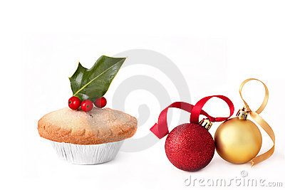 Mince Pie and Christmas Baubles