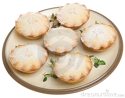 Mince Pies with Icing Sugar Dusting