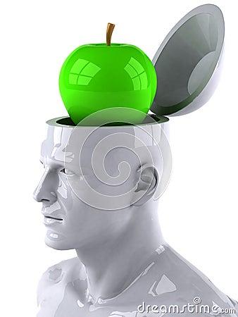 Mind and apple