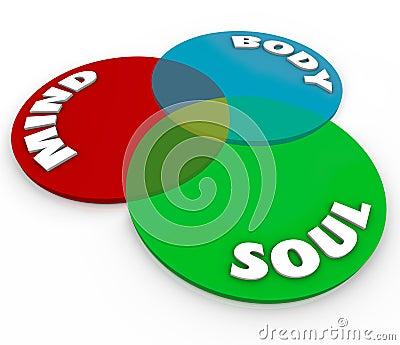 Mind Body Soul Venn Diagram Total Wellness Balance