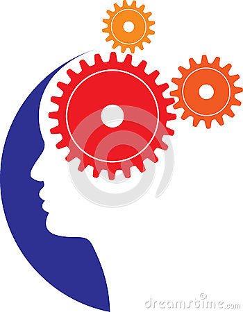 brain gears Vector Illustration