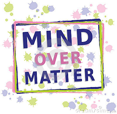 Mind over Matter - Text with Dots