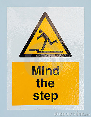 Free Mind The Step Sign Stock Photos - 24269323