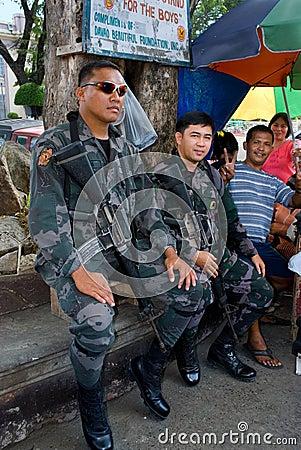 Mindanao military city siege Editorial Stock Image