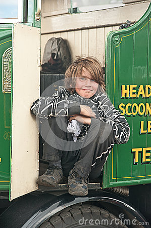 Minding the Engine at Boat of Garten Editorial Stock Photo