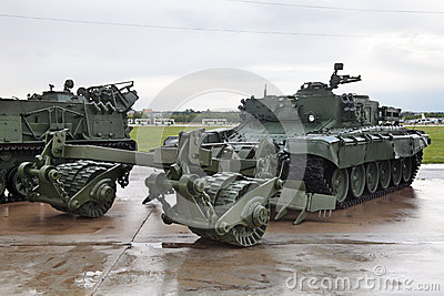 Mine clearing vehicle Editorial Image