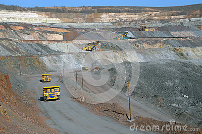 Mine of iron ore