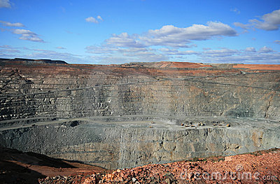 Mine superbe de mine de Kalgoorlie, Australie occidentale