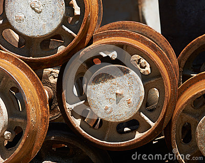 Mine trolley wheels
