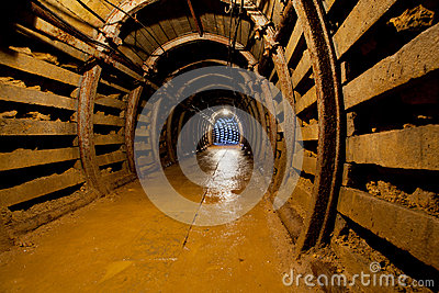 Mine tunnel with path Editorial Image