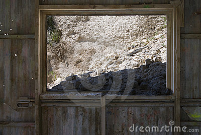 Mined Diatomaceous Earth in Abandoned Mine