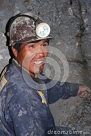 Miner Editorial Photo