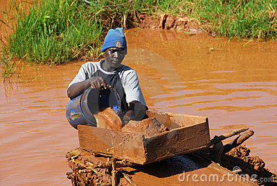 Miner in Africa Editorial Photo
