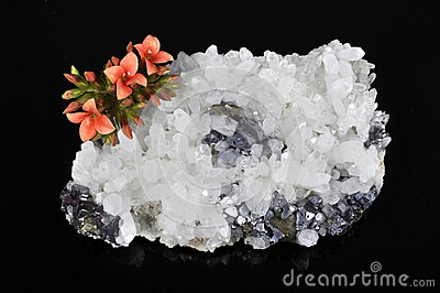 Mineral and flower