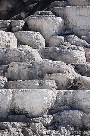 Mineral Terraces at Mammoth Hot Springs