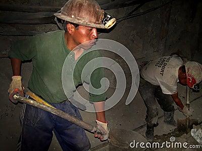 Miners of Cerro Rico, Bolivia, South America Editorial Photo