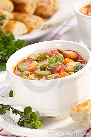 Free Minestrone Soup Stock Photography - 9135212