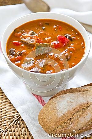 Minestrone soup [Bean,Zucchini soup]