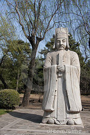 Ming Tombs: statue of bureaucrat.
