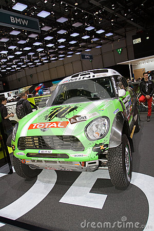 MINI ALL4 Racing Dakar 2013 Winner - Geneva Motor Show 2013 Editorial Image