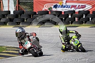 Mini Bike Championship Action Editorial Stock Photo