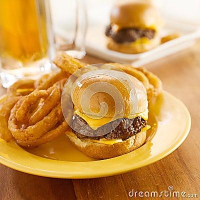 Mini burgers at pub
