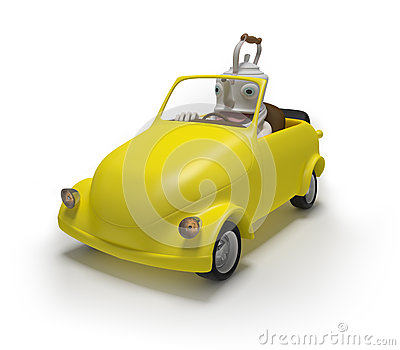 Mini car with teapot