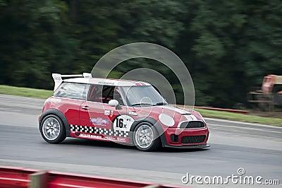 Mini Cooper race car Editorial Stock Image